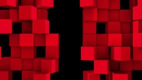 Ο κόκκινος τοίχος των κύβων διαιρεί απεικόνιση αποθεμάτων