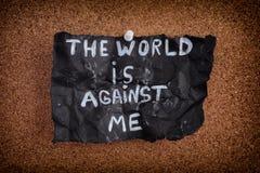 Ο κόσμος είναι ενάντια σε με Στοκ Εικόνες