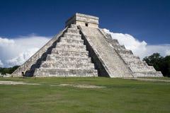 ο κόσμος κατάπληξης πυραμίδων του Μεξικού itza Στοκ Φωτογραφίες