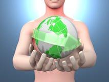 Ο κόσμος στα χέρια σας Στοκ φωτογραφία με δικαίωμα ελεύθερης χρήσης