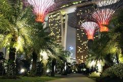 Ο κόλπος μαρινών της Σιγκαπούρης στρώνει με άμμο το ξενοδοχείο Στοκ Εικόνα