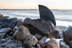 Ο Κόλπος της Φινλανδίας τον πρώιμο χειμώνα Στοκ Φωτογραφίες
