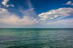Ο Κόλπος του Μεξικού στην παραλία Clearwater, Φλώριδα Στοκ εικόνα με δικαίωμα ελεύθερης χρήσης