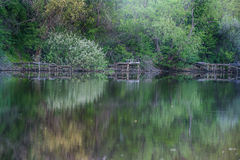Ο κόλπος του ποταμού Dnieper Στοκ Εικόνα