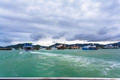 Ο κόλπος Chalong είναι η σημαντικότερη μαρίνα Phuket στοκ εικόνες
