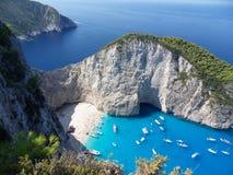 Ο κόλπος navagio του νησιού Ελλάδα της Ζάκυνθου στοκ εικόνα με δικαίωμα ελεύθερης χρήσης