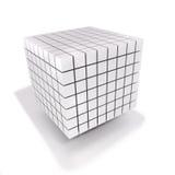 Ο κύβος και χωρίζει σε τετράγωνα φιαγμένος από πολλούς μικρούς κύβους Στοκ εικόνες με δικαίωμα ελεύθερης χρήσης