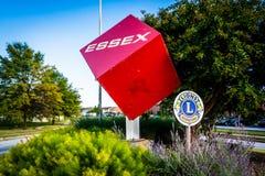 Ο κύβος Essex σε Essex, Μέρυλαντ Στοκ Εικόνες