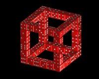 Ο κύβος Penrose από χωρίζει σε τετράγωνα Στοκ Φωτογραφίες