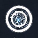 ο κύκλος ανασκόπησης λάμ&pi Στοκ Εικόνα