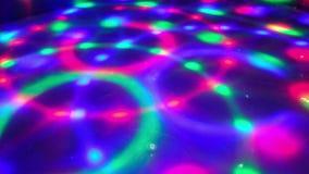 Ο κύκλος υποβάθρου ντισκοτέκ Dancefloor ανάβει το πάτωμα psychedelic απόθεμα βίντεο
