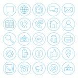 Ο κύκλος γραμμών μας έρχεται σε επαφή με εικονίδια Στοκ φωτογραφία με δικαίωμα ελεύθερης χρήσης