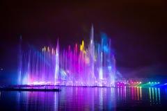 Ο κύκλος φεστιβάλ του φωτός Το κανάλι κωπηλασίας Στοκ εικόνες με δικαίωμα ελεύθερης χρήσης
