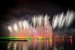 Ο κύκλος φεστιβάλ του φωτός Το κανάλι κωπηλασίας Στοκ φωτογραφίες με δικαίωμα ελεύθερης χρήσης