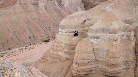 Ο κύλινδρος Qumran ανασκάπτει κοντά στη νεκρή θάλασσα, Ισραήλ