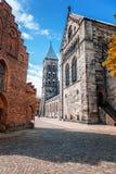 Ο κύριος λουθηρανικός γοτθικός ναός στο Lund, Σουηδία, ένα μνημείο του μ Στοκ φωτογραφία με δικαίωμα ελεύθερης χρήσης