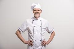 ο κύριος μάγειρας απομόνωσε το λευκό Στοκ εικόνες με δικαίωμα ελεύθερης χρήσης