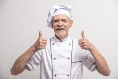 ο κύριος μάγειρας απομόνωσε το λευκό Στοκ εικόνα με δικαίωμα ελεύθερης χρήσης