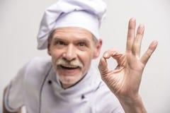 ο κύριος μάγειρας απομόνωσε το λευκό Στοκ φωτογραφίες με δικαίωμα ελεύθερης χρήσης