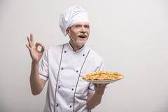 ο κύριος μάγειρας απομόνωσε το λευκό Στοκ Εικόνα