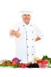 ο κύριος μάγειρας που ε&mu Στοκ φωτογραφία με δικαίωμα ελεύθερης χρήσης