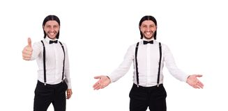 Ο κύριος που απομονώνεται νέος στο λευκό στοκ εικόνες με δικαίωμα ελεύθερης χρήσης