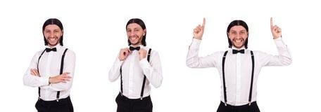 Ο κύριος που απομονώνεται νέος στο λευκό στοκ φωτογραφία με δικαίωμα ελεύθερης χρήσης