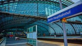 Ο κύριος σιδηροδρομικός σταθμός στο Βερολίνο Στοκ Εικόνα
