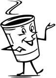 Ο κύριος Coffee ελεύθερη απεικόνιση δικαιώματος
