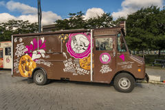 Ο κύριος Felix & φορτηγό τροφίμων Norton στοκ φωτογραφία με δικαίωμα ελεύθερης χρήσης