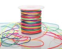 Ο κύλινδρος του χρωματισμένου σκοινιού Στοκ Εικόνες