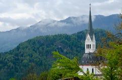 Ο κώνος εκκλησιών του ST Martin ` s, αιμορράγησε Στοκ φωτογραφίες με δικαίωμα ελεύθερης χρήσης