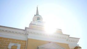 Ο κώνος του καθεδρικού ναού μεταμόρφωσης στον ήλιο, Dnipro απόθεμα βίντεο
