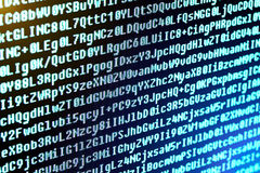 Ο κώδικας προγράμματος είναι οι χαρακτήρες, οι αριθμοί και τα γράμματα Στοκ εικόνα με δικαίωμα ελεύθερης χρήσης