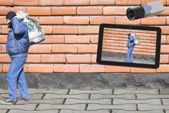 Ο κλέφτης φεύγει αλλά η εικόνα παραμένει Στοκ φωτογραφίες με δικαίωμα ελεύθερης χρήσης