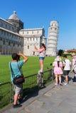 Ο κλίνοντας πύργος της Πίζας στην Πίζα, Τοσκάνη, Ιταλία στοκ εικόνα με δικαίωμα ελεύθερης χρήσης