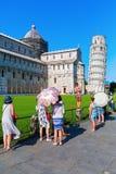 Ο κλίνοντας πύργος της Πίζας στην Πίζα, Τοσκάνη, Ιταλία στοκ φωτογραφία με δικαίωμα ελεύθερης χρήσης