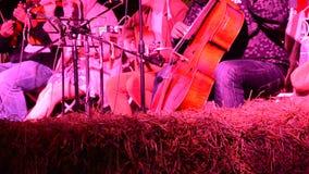 Ο κλασικός μουσικής παιχνιδιού με την ακουστική συναυλία ομάδας για παρουσιάζει ταξιδιώτη στο χρόνο βραδιού απόθεμα βίντεο