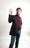 Ο κ. Επιθετικότητα IceMan, άτομο μόδας πλεκτός Στοκ φωτογραφία με δικαίωμα ελεύθερης χρήσης