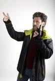 Ο κ. Επιθετικότητα IceMan, αυτός που μιλά walkie-talkie Στοκ φωτογραφίες με δικαίωμα ελεύθερης χρήσης