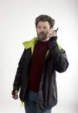 Ο κ. Επιθετικότητα IceMan, αυτός που μιλά walkie-talkie Στοκ Εικόνες