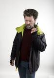 Ο κ. Επιθετικότητα IceMan, αυτός που μιλά walkie-talkie Στοκ φωτογραφία με δικαίωμα ελεύθερης χρήσης