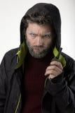 Ο κ. Επιθετικότητα IceMan, αυτός που μιλά walkie-talkie Στοκ Εικόνα