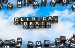 Ο κλινικός θάνατος λέξης στοκ εικόνες