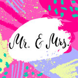 Ο κ. & κα Και, ampersand σύμβολο γάμος νεόνυμφων εκκλησιών τελετής νυφών γαμήλιες λέξεις Στοκ Εικόνες