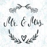 Ο κ. & κα Και, ampersand σύμβολο γάμος νεόνυμφων εκκλησιών τελετής νυφών γαμήλιες λέξεις Στοκ Φωτογραφίες