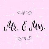 Ο κ. & κα Και, ampersand σύμβολο γάμος νεόνυμφων εκκλησιών τελετής νυφών γαμήλιες λέξεις Στοκ Εικόνα