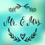 Ο κ. & κα Και, ampersand σύμβολο γάμος νεόνυμφων εκκλησιών τελετής νυφών γαμήλιες λέξεις Στοκ εικόνες με δικαίωμα ελεύθερης χρήσης