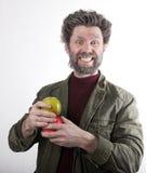Ο κ. IceMan, χαμογελώντας άτομο με μια γενειάδα, γενειάδα Στοκ εικόνα με δικαίωμα ελεύθερης χρήσης