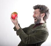 Ο κ. IceMan, χαμογελώντας άτομο με μια γενειάδα, γενειάδα Στοκ φωτογραφία με δικαίωμα ελεύθερης χρήσης